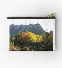 Snowy east face of Cradle with Fagus Studio Pouch
