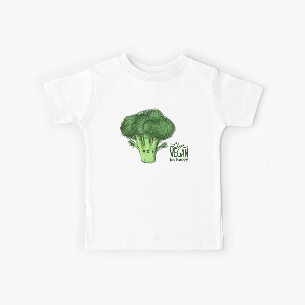 Happy Brokkoli ~ Live Vegan, sei glücklich! Kinder T-Shirt