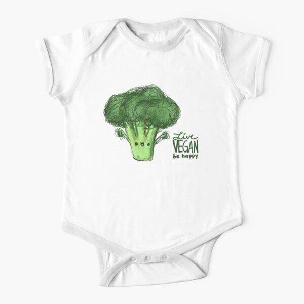 HTUAEUEHRH Funny Vegan Runner Vegetables Baby Boys Toddler Short Sleeve T-Shirts Tees