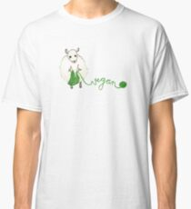 Vegan Crafter ~ Cute Knitting Sheep Classic T-Shirt