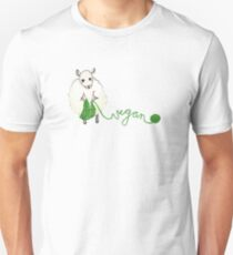 Vegan Crafter ~ Cute Knitting Sheep Unisex T-Shirt