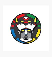 Voltron Face Stylized Photographic Print