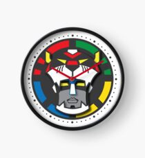 Voltron Face Stylized Clock