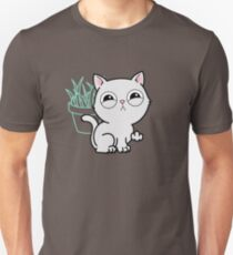 Kitty Knows Sign Language - Cat Giving Middle Finger Unisex T-Shirt