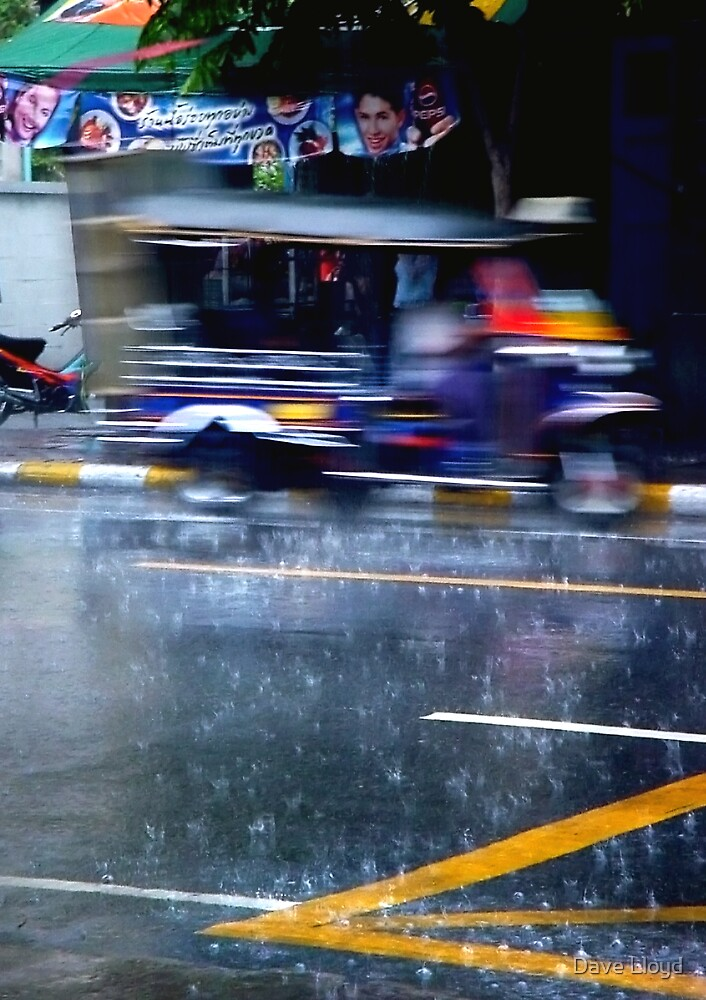 Tuk Tuk In The Rain by Dave Lloyd