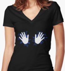 Electrify Me Women's Fitted V-Neck T-Shirt