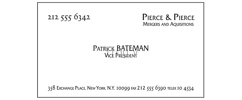 Patrick bateman business card mugs by troy v redbubble patrick bateman business card by troy v colourmoves