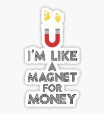 Like a magnet for money Rb07v Sticker