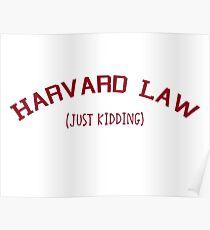 Harvard Law Poster