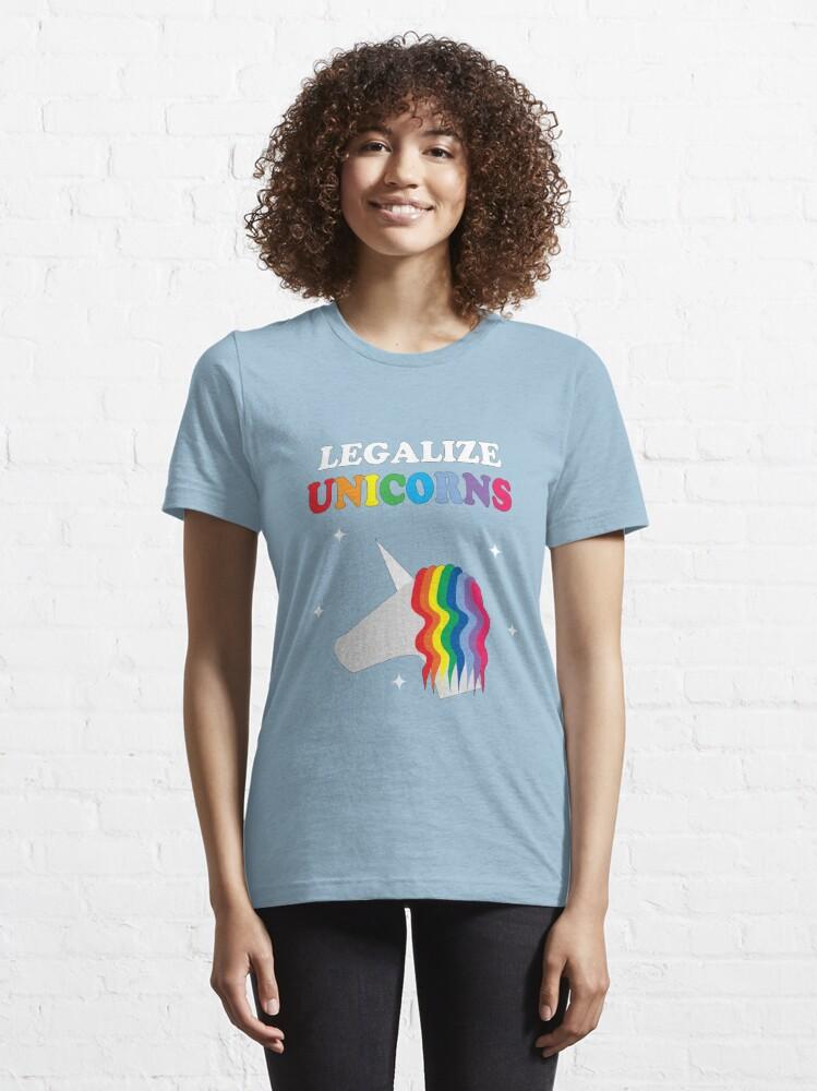 Alternate view of Legalize Unicorns Essential T-Shirt