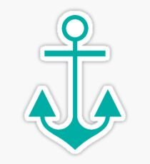 Marine Anchor Pattern - Nautical Blues Sticker