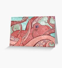Tangled Ocean Octopus Greeting Card