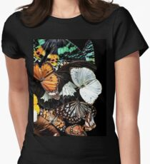 Butterfly Bouquet Womens Fitted T-Shirt