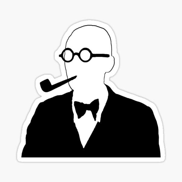 Le Corbusier Blanco y Negro Pegatina