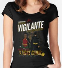Greendale's Nocturnal Vigilante Women's Fitted Scoop T-Shirt