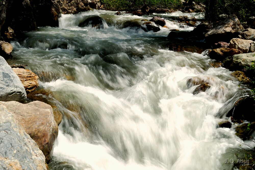 Rapids seen Slowly by J. D. Adsit