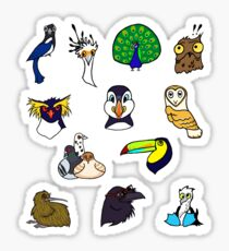 Goofy Bird Sticker Sheet Sticker