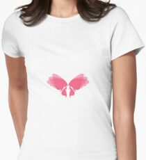 Lovely Lady Fairy Wings Women's Fitted T-Shirt