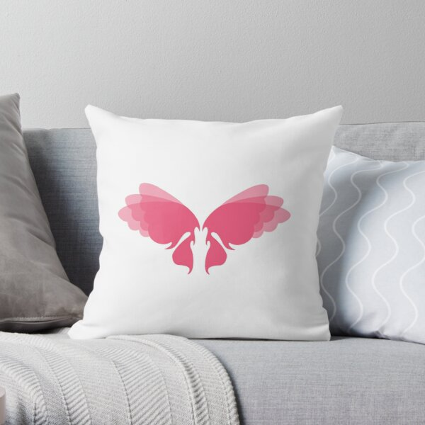 Lovely Lady Fairy Wings Throw Pillow
