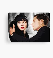 Miss Fisher and D.I. Jack Robinson Canvas Print