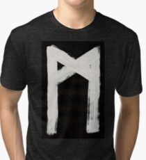 Anglo-Saxon Futhorc mann man m Inverted Tri-blend T-Shirt