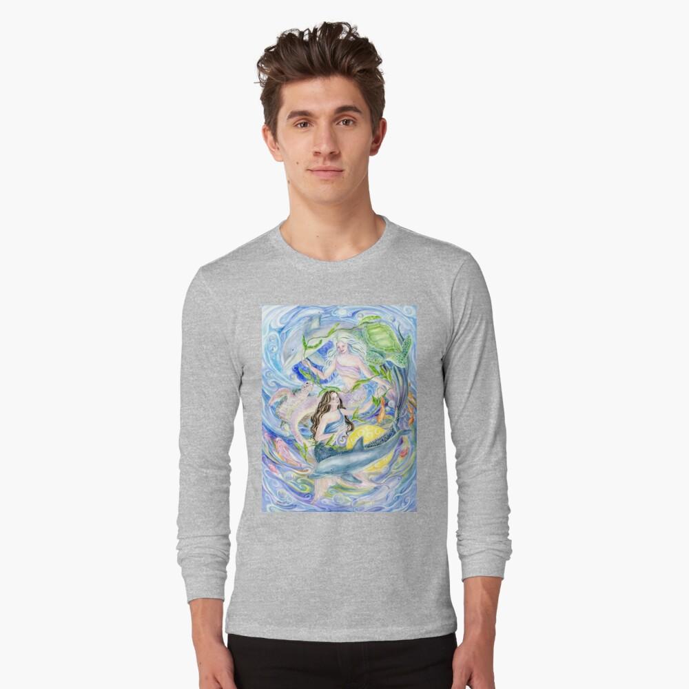 Yin Yang Meerjungfrauen Langarmshirt