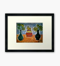 CARNATIONS AND TWO VASES Framed Print