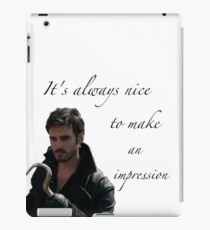 It's Always Nice To Make An Impression - Captain Hook - Once Upon A Time iPad Case/Skin