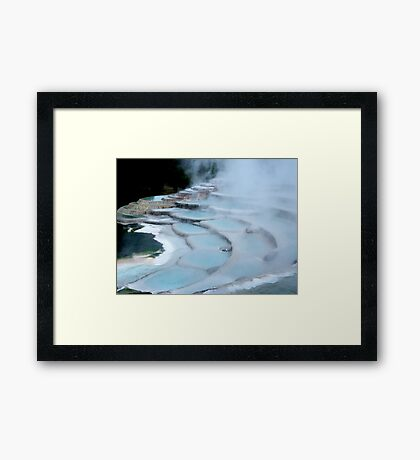 On The Terrace Framed Print