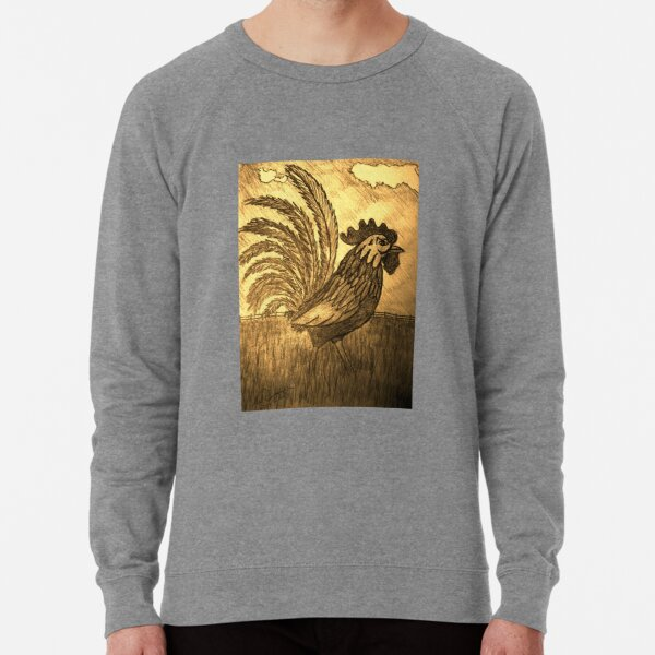 ROOSTER IN THE GRASS Lightweight Sweatshirt