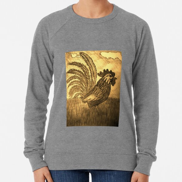 ROOSTER IN THE GRASS Lightweight Sweatshirt