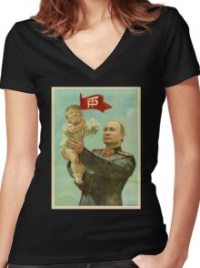 Baby Trump Women's Fitted V-Neck T-Shirt