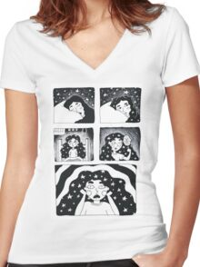 starry Women's Fitted V-Neck T-Shirt