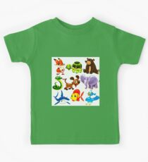 Coloured Animals Collection Kids Tee