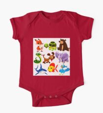 Coloured Animals Collection One Piece - Short Sleeve