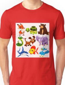 Coloured Animals Collection Unisex T-Shirt
