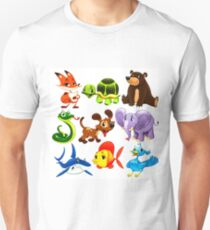 Coloured Animals Collection T-Shirt