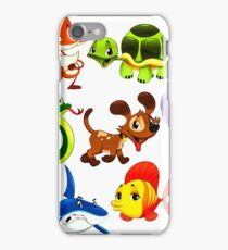 Coloured Animals Collection iPhone Case/Skin
