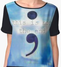This Is Not The End Women's Chiffon Top