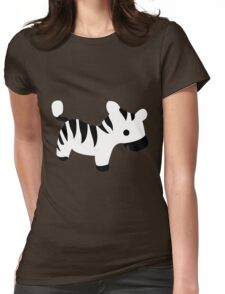 Cute Baby Zebra Womens Fitted T-Shirt