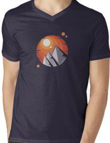 Mountain Sunset Mens V-Neck T-Shirt