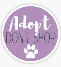 Adopt Don't Shop - Lavender Sticker