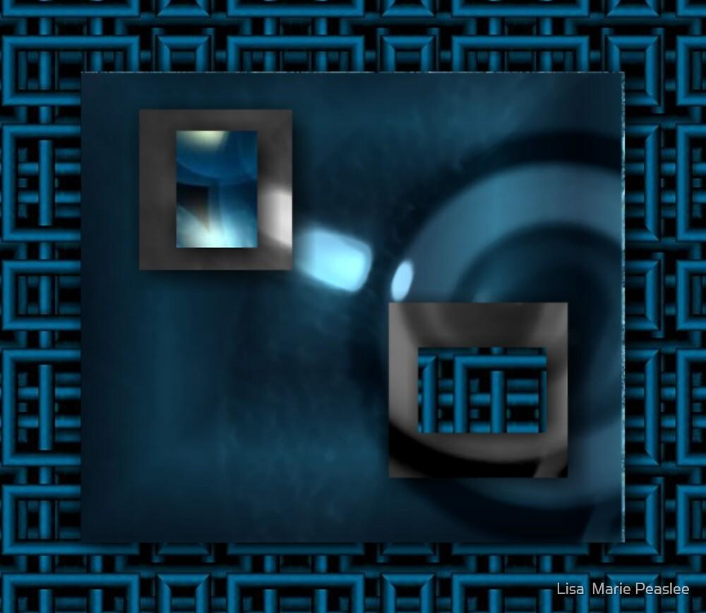 Blue Candid 3D by Lisa  Marie Peaslee