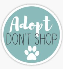 Adopt Don't Shop - Ice Sticker