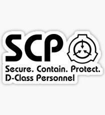 SCP D-Class Personnel LEFT ALIGNMENT Sticker