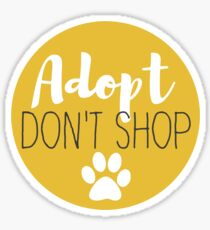 Adopt Don't Shop - Butter Sticker