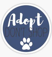 Adopt Don't Shop - Blue Sticker