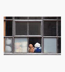 Windows with a teddy bear Photographic Print