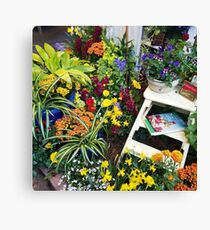 Always good to have a few flowers around the kitchen! Canvas Print
