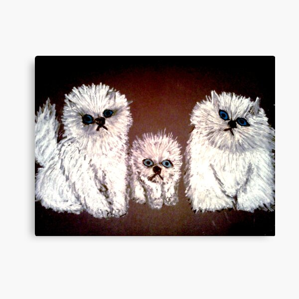 THREE LITTLE KITTENS Canvas Print